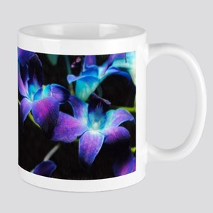 Two Purple Orchids Stainless Steel Travel Mugs