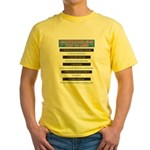 Top Ten Lies Snowmobilers use Yellow T-Shirt