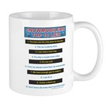 Top Ten Lies Snowmobilers use Mug