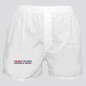 Screwing Up America Boxer Shorts