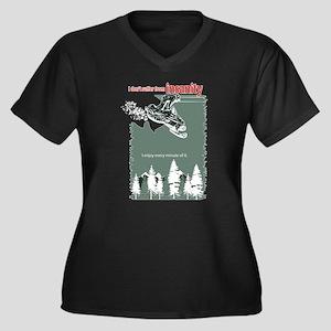 Insanity Women's Plus Size V-Neck Dark T-Shirt