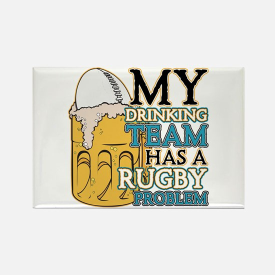 Rugby Drinking Team Rectangle Magnet (10 pack)
