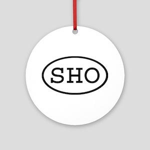 SHO Oval Ornament (Round)