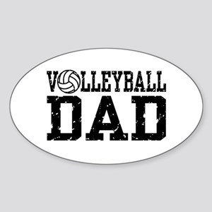 Volleyball Dad Oval Sticker