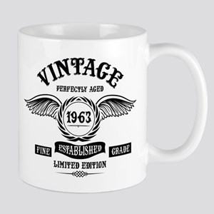Vintage Perfectly Aged 1963 Mugs