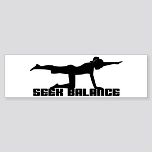 Seek Balance Bumper Sticker
