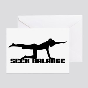 Seek Balance Greeting Card