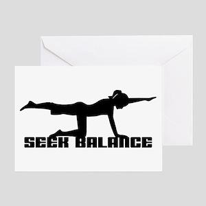 Seek Balance Greeting Card