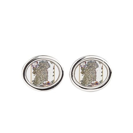 Lissycasey Co Clare Ireland Oval Cufflinks