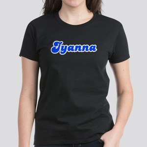 Retro Iyanna (Blue) Women's Dark T-Shirt
