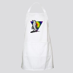 Abstract Gay Pride Penguin BBQ Apron