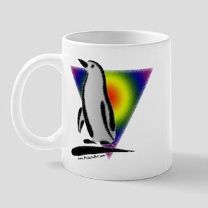 Abstract Gay Pride Penguin Mug