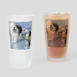 Old English Sheepdo... Drinking Glass