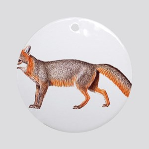 Gray Fox Animal Lover Ornament (Round)