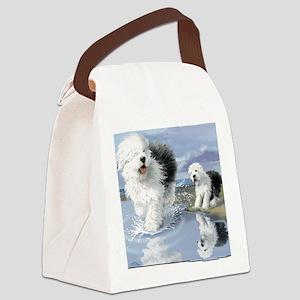 Old English Sheepdo... Canvas Lunch Bag
