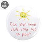 "Inner Child 3.5"" Button (10 pack)"
