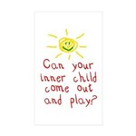 Inner Child Sticker (Rectangle 10 pk)