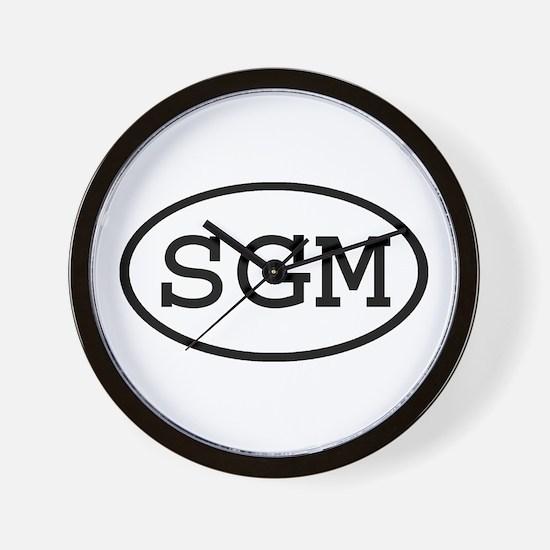 SGM Oval Wall Clock