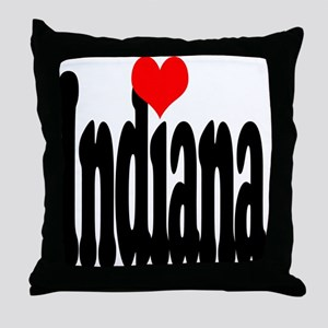 I love Indiana Throw Pillow