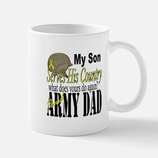 Army Son Serves Mug