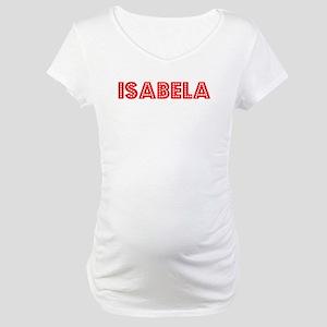 Retro Isabela (Red) Maternity T-Shirt