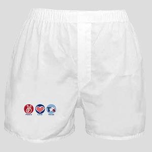 Peace Love Texas Boxer Shorts