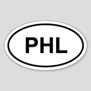 PHL Oval Sticker