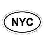 NYC Oval Sticker (10 pk)