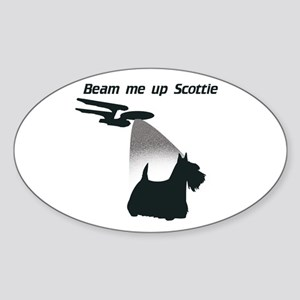 Beam Me Up Scottie Oval Sticker