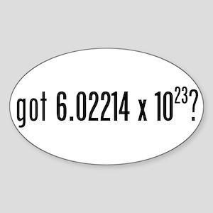 got Avogadro's Number? Oval Sticker