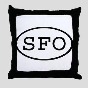 SFO Oval Throw Pillow