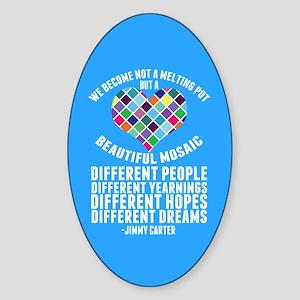 Dreamers DACA Quote Sticker (Oval)