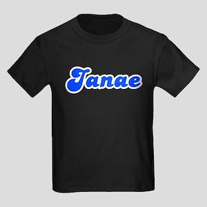 Retro Janae (Blue) Kids Dark T-Shirt