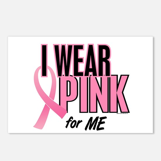 I Wear Pink For ME 10 Postcards (Package of 8)