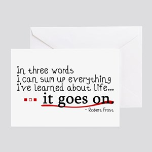 Life... It Goes On Greeting Cards (Pk of 10)