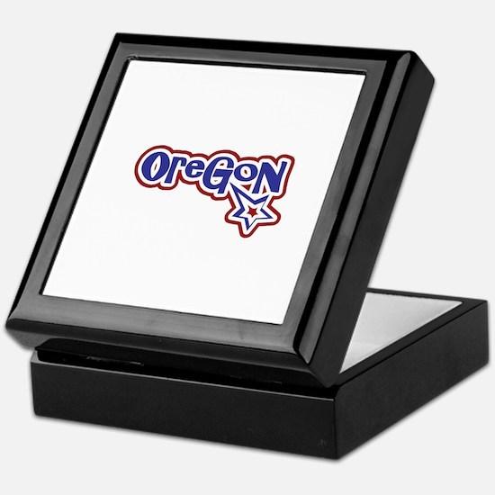Oregon Stars and Stripes Keepsake Box