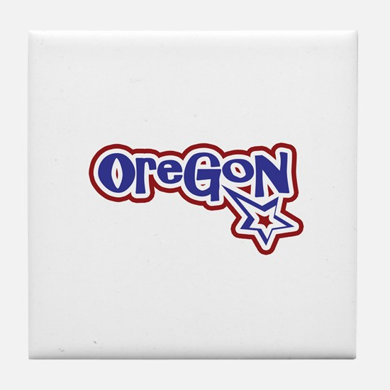 Oregon Stars and Stripes Tile Coaster