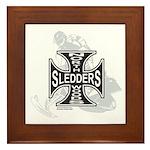 North Woods Ssledders - Snowm Framed Tile