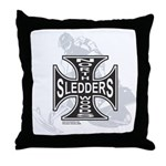 North Woods Ssledders - Snowm Throw Pillow