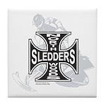 North Woods Ssledders - Snowm Tile Coaster