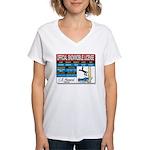 Snowmobile License tee Women's V-Neck T-Shirt