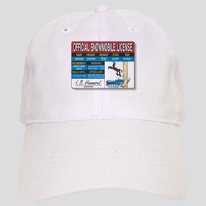 Snowmobile License tee Cap