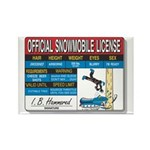 Snowmobile License tee Rectangle Magnet (10 pack)