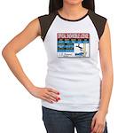 Snowmobile License tee Women's Cap Sleeve T-Shirt