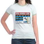 Snowmobile License tee Jr. Ringer T-Shirt