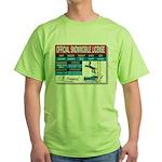 Snowmobile License tee Green T-Shirt