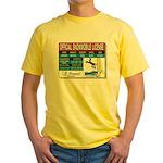 Snowmobile License tee Yellow T-Shirt