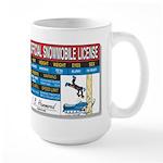 Snowmobile License tee Large Mug