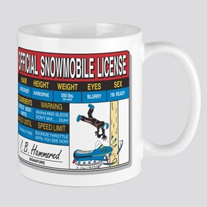 Snowmobile License tee Mug