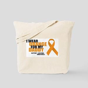 Leukemia: Orange For Daddy Tote Bag